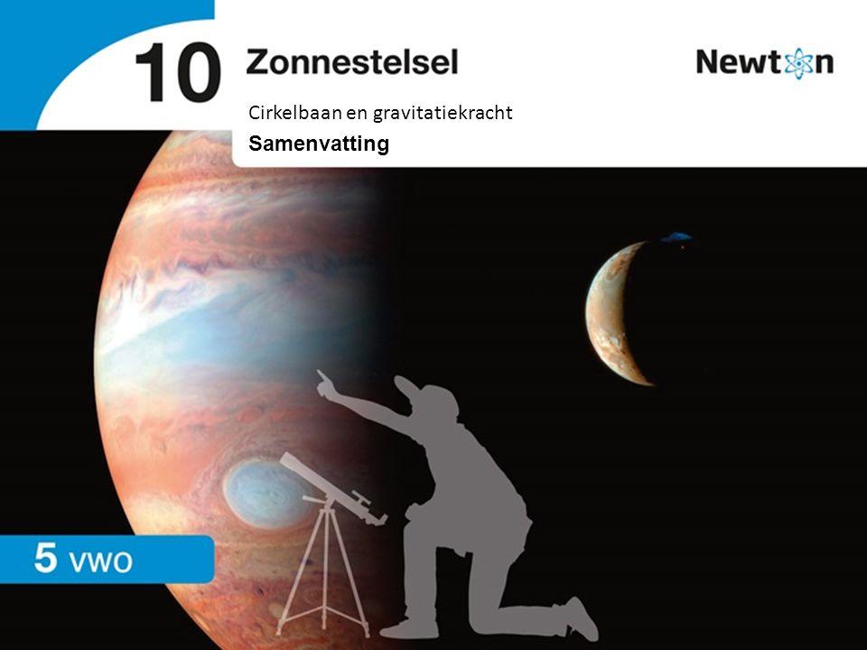 Cirkelbaan en gravitatiekracht | vwo | Samenvatting 10 Zonnestelsel Ellipsbaan Figuur 1