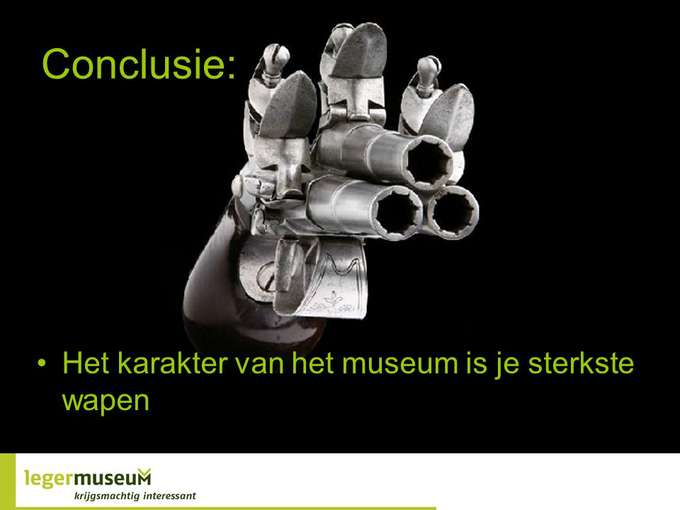 Conclusie: Het karakter van het museum is je sterkste wapen