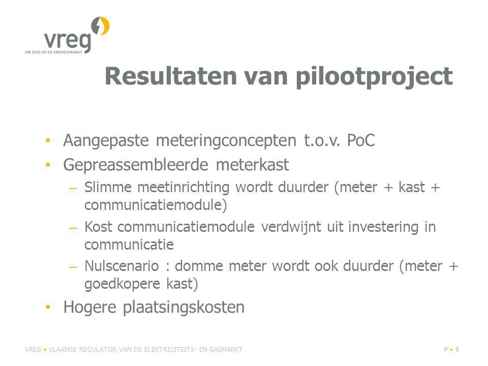 Resultaten van pilootproject Aangepaste meteringconcepten t.o.v.