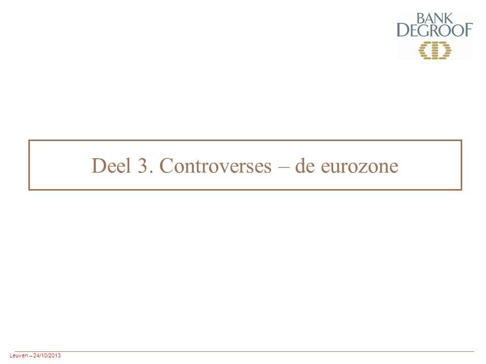 Leuven – 24/10/2013 Deel 3. Controverses – de eurozone