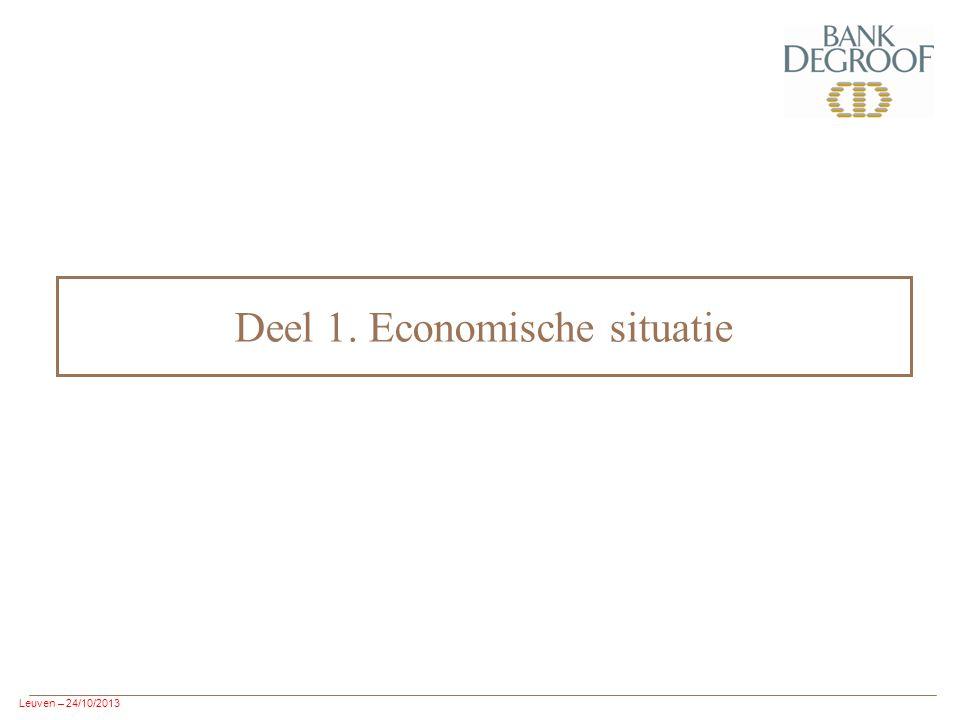 Leuven – 24/10/2013 Deel 1. Economische situatie