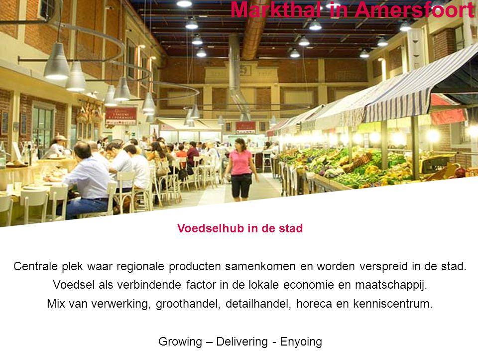 Positioned for growth Markthal in Amersfoort Voedselhub in de stad Centrale plek waar regionale producten samenkomen en worden verspreid in de stad. V