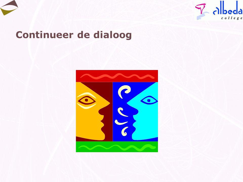 Continueer de dialoog