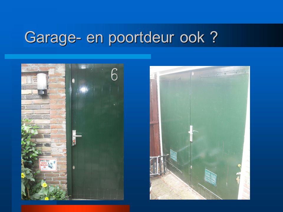 Garage- en poortdeur ook ?