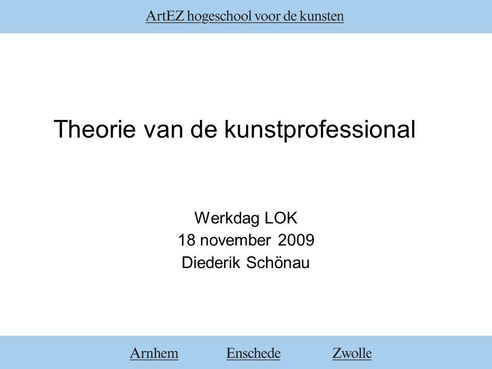 Theorie van de kunstprofessional Werkdag LOK 18 november 2009 Diederik Schönau