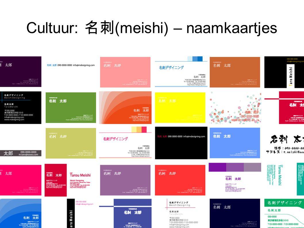 Cultuur: 名刺 (meishi) – naamkaartjes