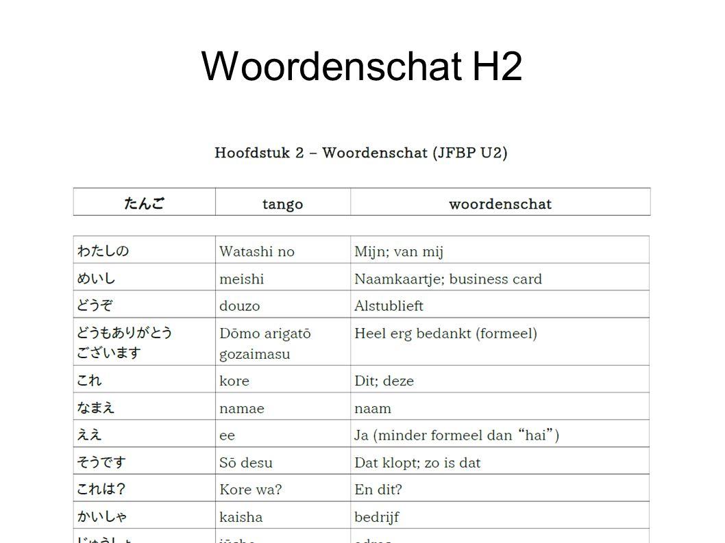 Woordenschat H2