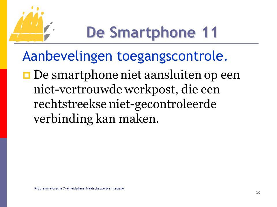 Aanbevelingen toegangscontrole.  De smartphone niet aansluiten op een niet-vertrouwde werkpost, die een rechtstreekse niet-gecontroleerde verbinding