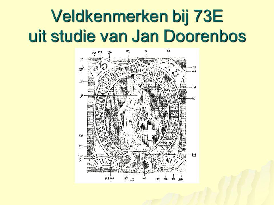Veldkenmerken bij 73E uit studie van Jan Doorenbos