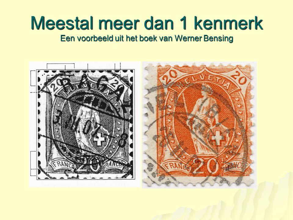 Meestal meer dan 1 kenmerk Een voorbeeld uit het boek van Werner Bensing