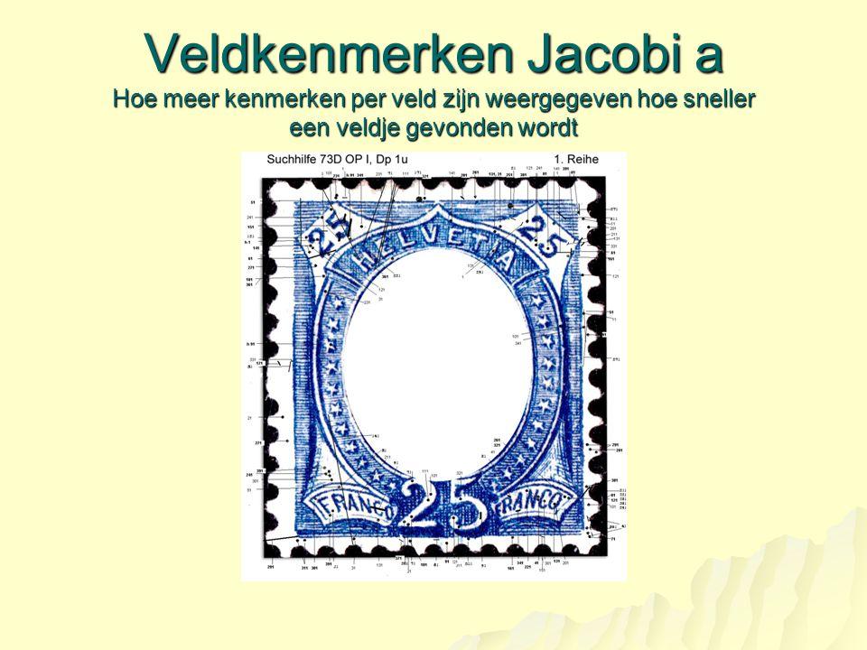 Veldkenmerken Jacobi a Hoe meer kenmerken per veld zijn weergegeven hoe sneller een veldje gevonden wordt
