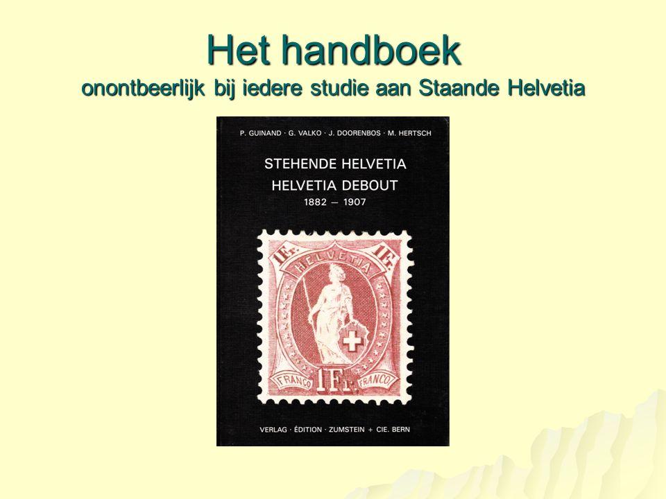 Het handboek onontbeerlijk bij iedere studie aan Staande Helvetia