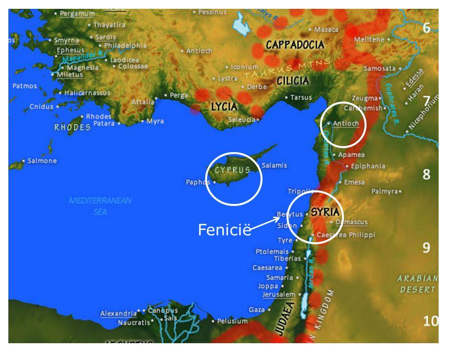 19 (...) trokken verder tot Fenicie, Cyprus en Antiochie toe, zonder tot iemand het woord te spreken dan alleen tot de Joden.