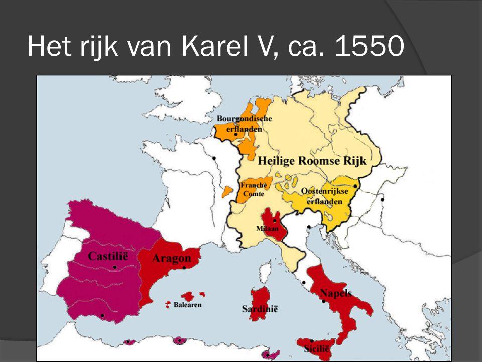 Het rijk van Karel V, ca. 1550