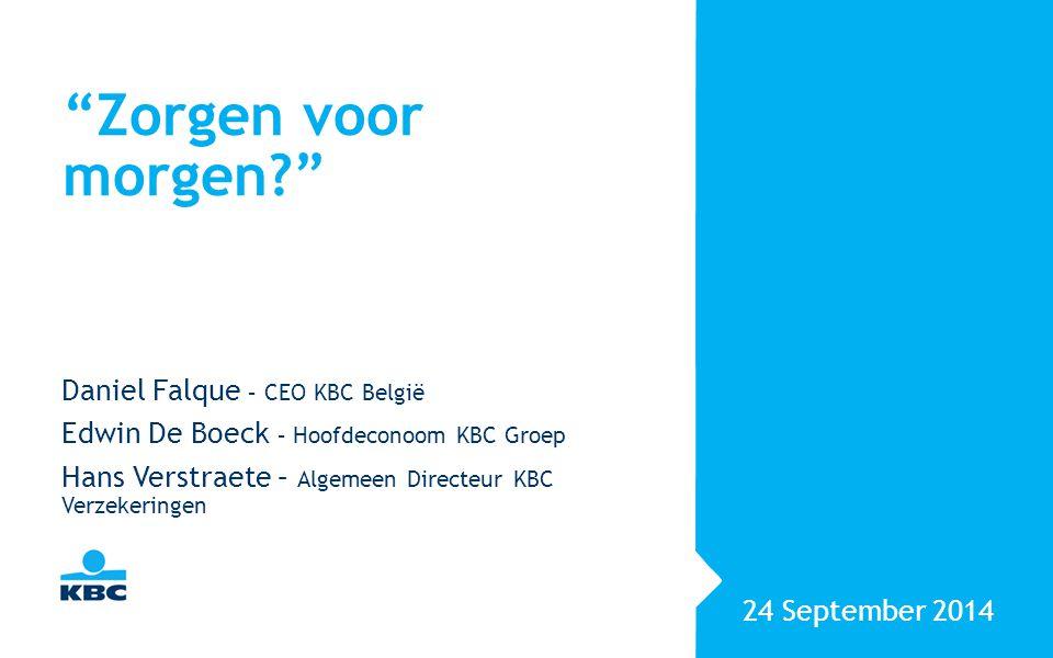 Senioren : nieuwe invulling voor oud begrip? Daniel Falque – CEO KBC België