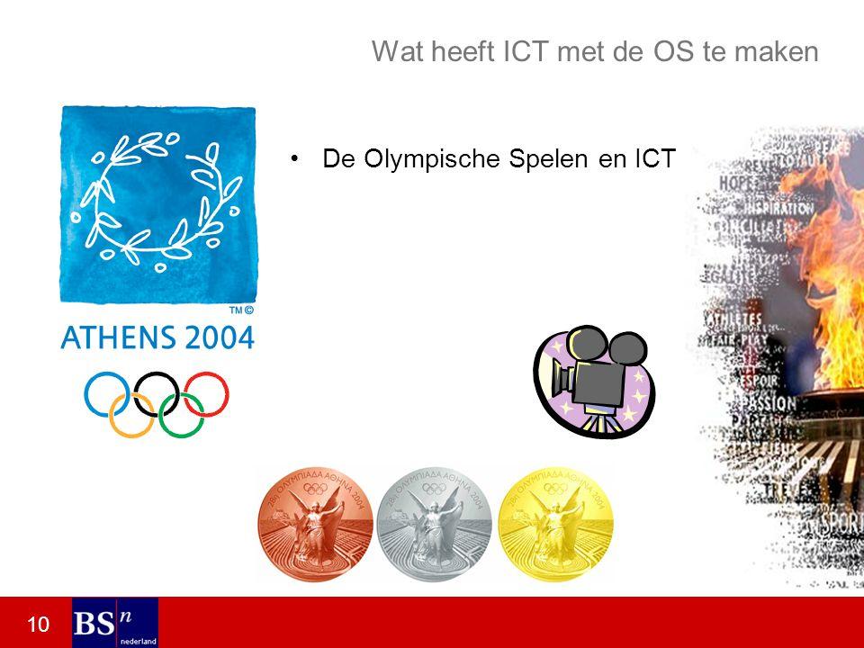 10 Wat heeft ICT met de OS te maken De Olympische Spelen en ICT