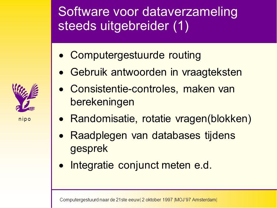 Computergestuurd naar de 21ste eeuw  2 oktober 1997  MOJ'97 Amsterdam  n i p on i p o Alleen.......