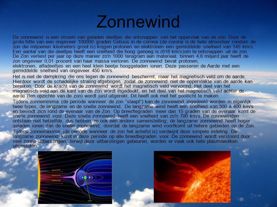 Poollicht Poollicht hangt samen met zonne-uitbarsting of zonnewind.