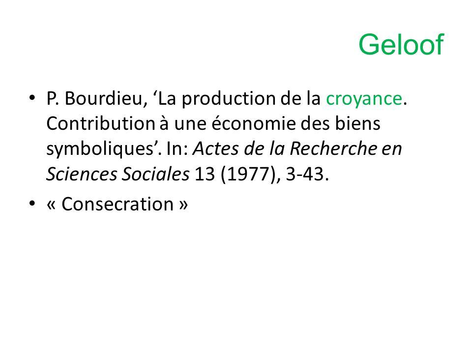 P.Bourdieu, 'La production de la croyance. Contribution à une économie des biens symboliques'.