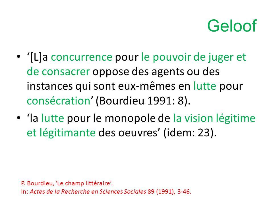 Kritiek Noties als habitus niet duidelijk gedefinieerd Te veel nadruk op strijd, terwijl er ook sprake is van samenwerking Visie al te deterministisch: Bourdieu laat te weinig ruimte voor variatie binnen een sociale groep … (K.