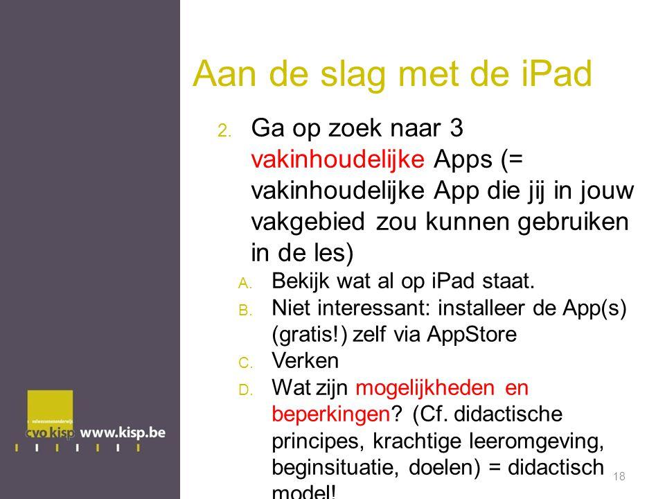 Aan de slag met de iPad 2.