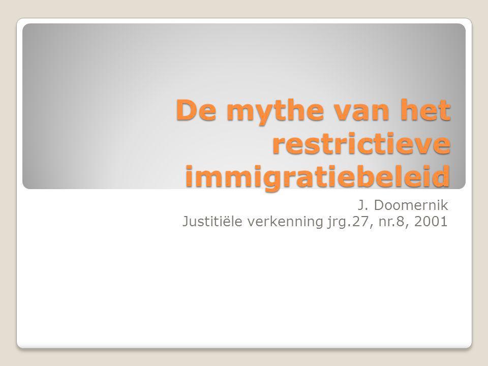 De mythe van het restrictieve immigratiebeleid J.