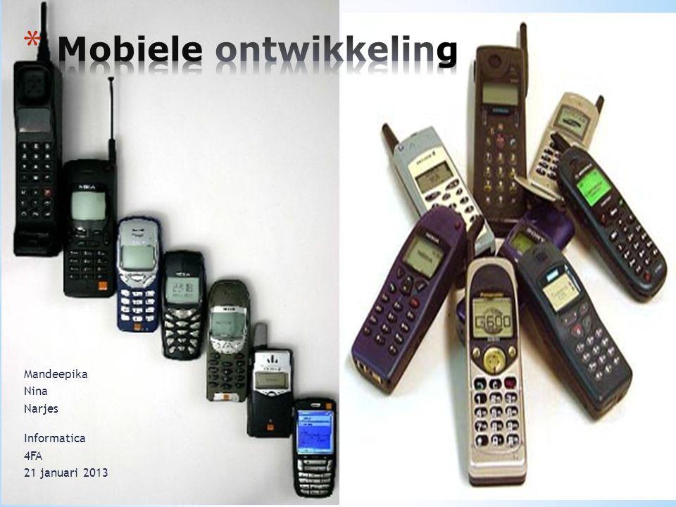 * Uiterlijk * Soorten telefoons * functies * Besturingssystemen * Concurrentie