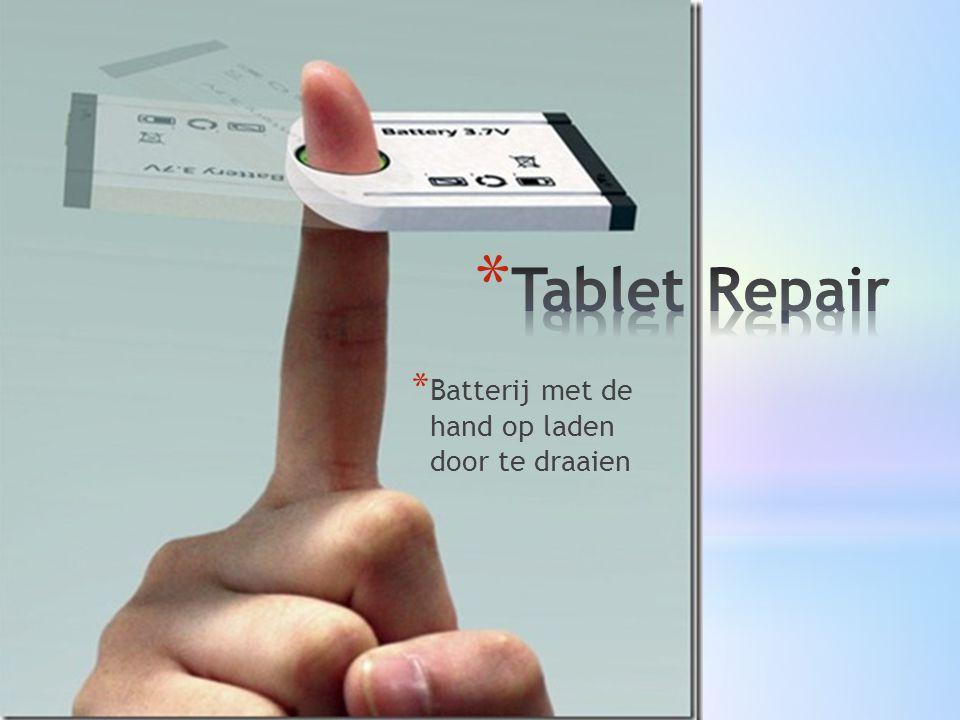 * Batterij met de hand op laden door te draaien