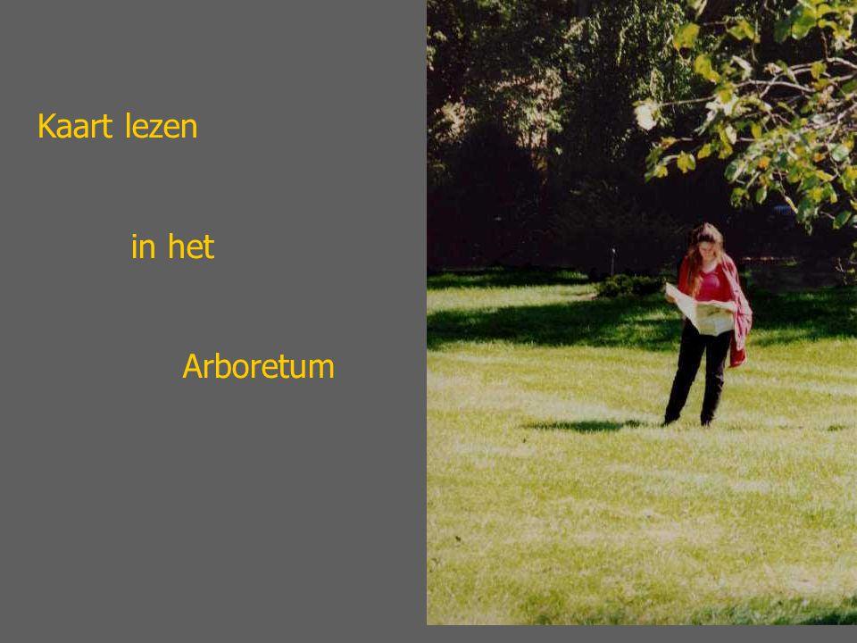 Kaart lezen in het Arboretum
