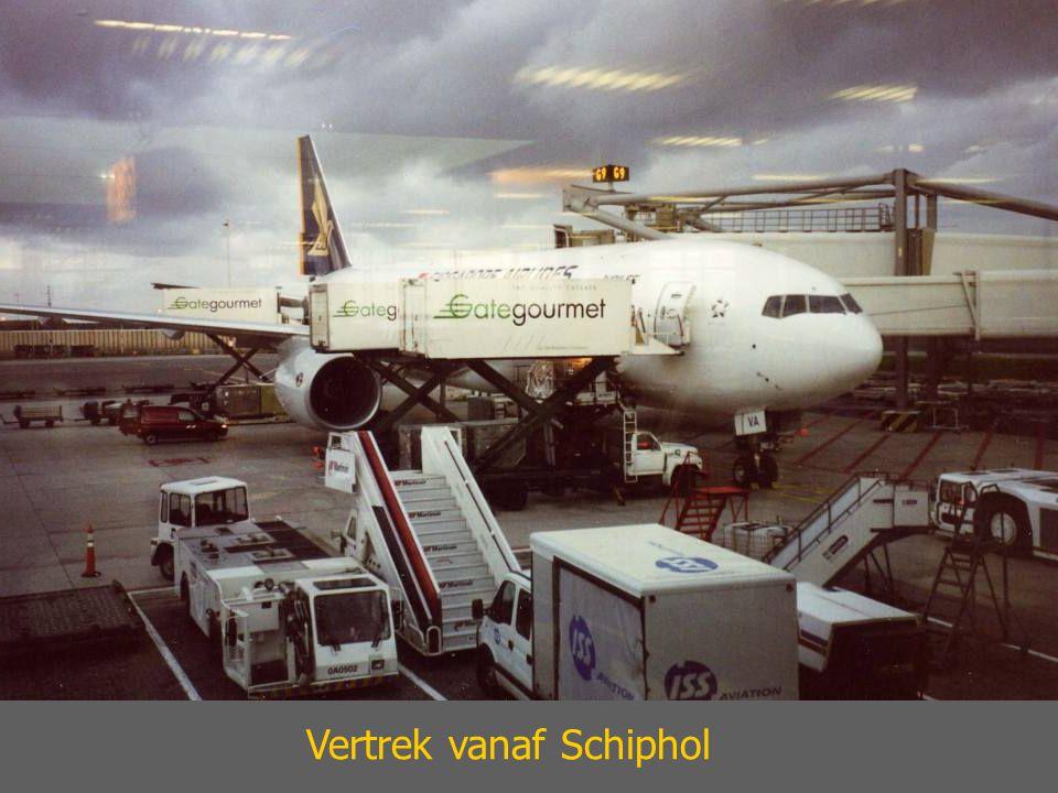 Vertrek vanaf Schiphol
