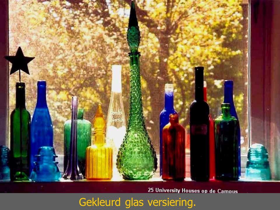 Gekleurd glas versiering.