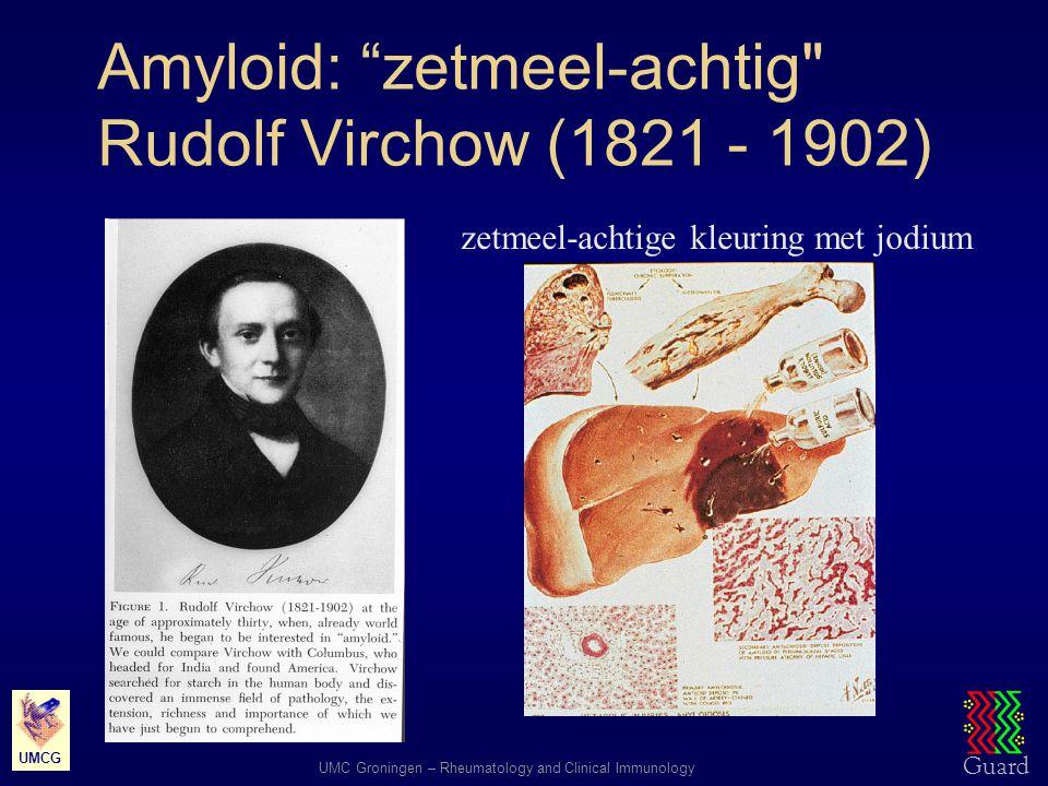"""Guard UMC Groningen – Rheumatology and Clinical Immunology UMCG Amyloid: """"zetmeel-achtig"""