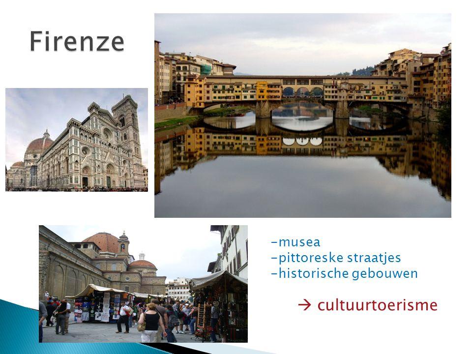 -musea -pittoreske straatjes -historische gebouwen  cultuurtoerisme