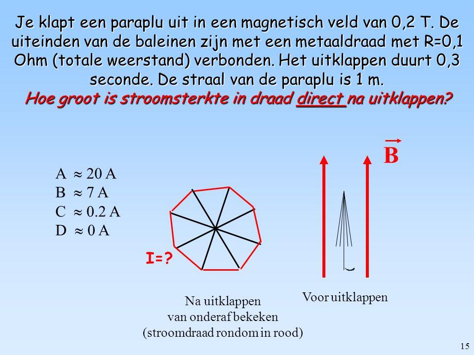 14 Let wel! Elektrostatisch (tijdsonafhankelijk):  stationaire stromen  stationaire verdeling van de lading Elektrodynamisch (tijdsafhankelijk):  s
