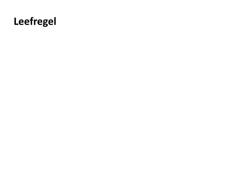 Leefregel