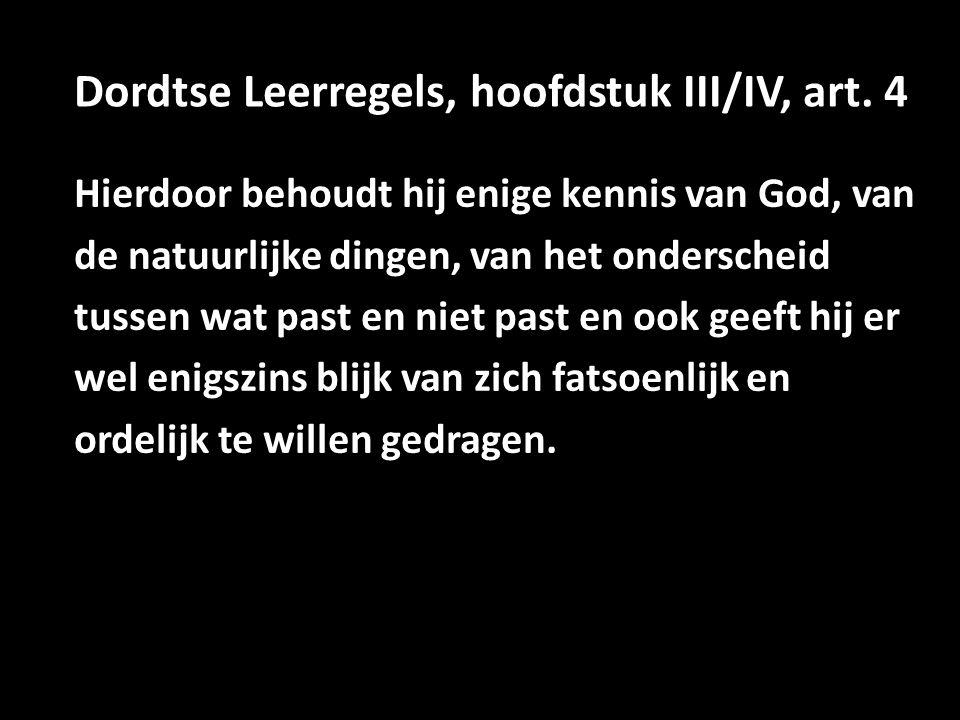 Dordtse Leerregels, hoofdstuk III/IV, art.
