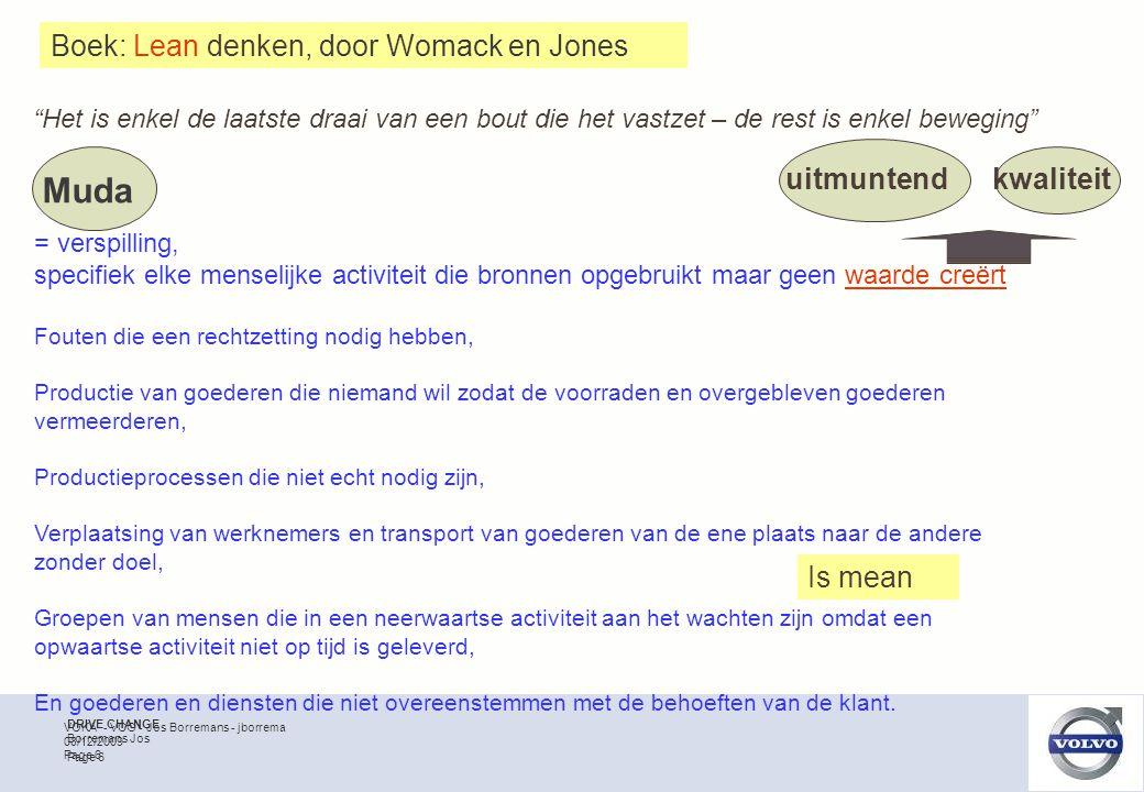 VOKA - VCG - Jos Borremans - jborrema Page 7 08/12/2009 Besparen tot der dood Met minder véél meer Niet meer, maar slimmer Lean : is niet mean , maar …. nodeloos verlies wegwerken Excellence UIT – MUNTEN –D -HEID