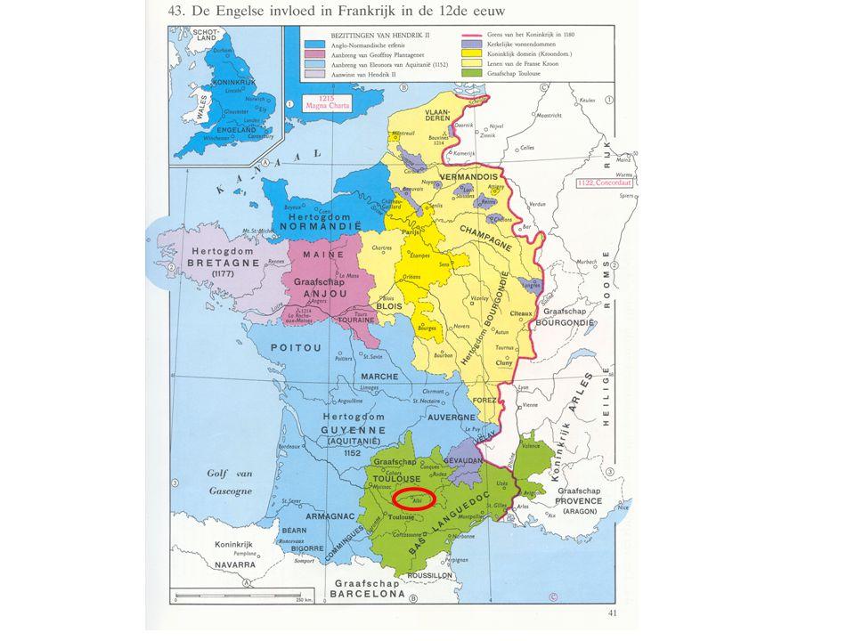 + West-Duitsland  streek van de Rijn Bron: Hildegard von Bingen + Occitanië