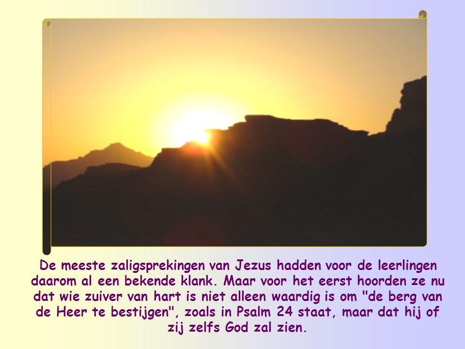 En daarmee komen we bij de vrucht van deze zuiverheid (al moet die steeds opnieuw veroverd worden): we zullen God zien .