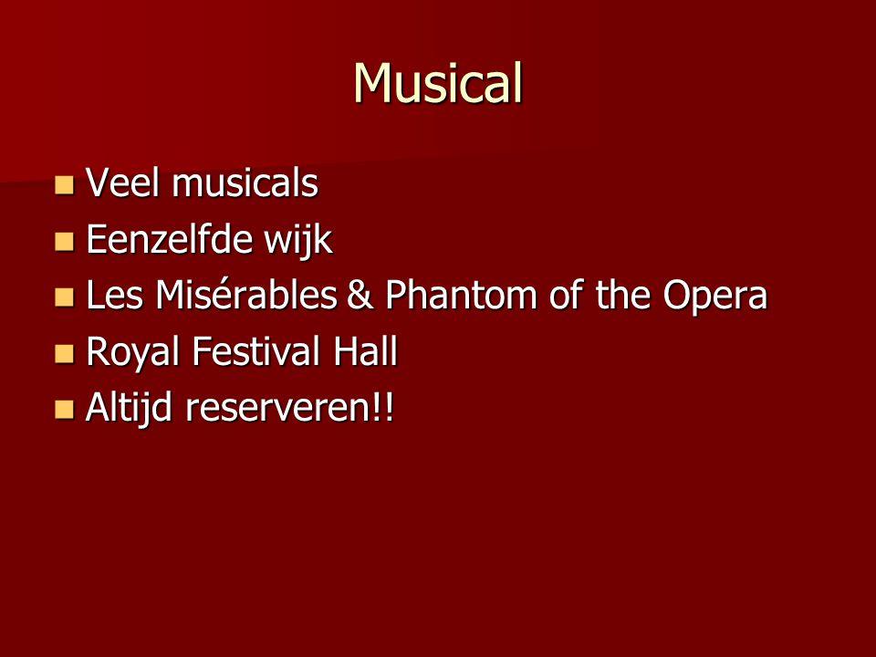 Londen cultuurstad Musical, Opera & Kunst