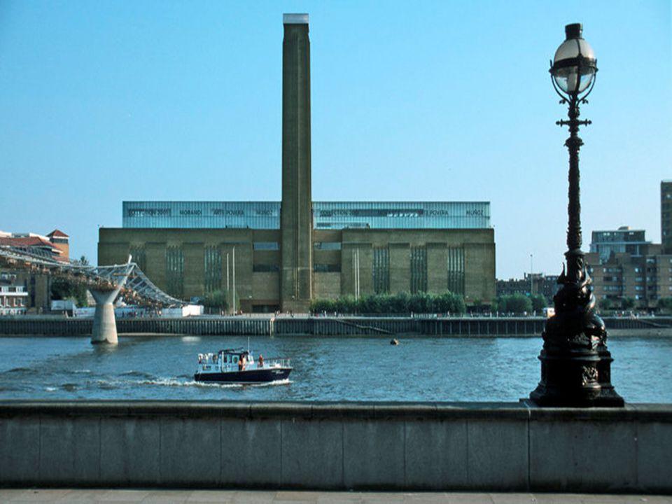 Kunst: Tate Modern Nationaal museum Nationaal museum Elektriciteitscentrale  Bankside Power Station Elektriciteitscentrale  Bankside Power Station M