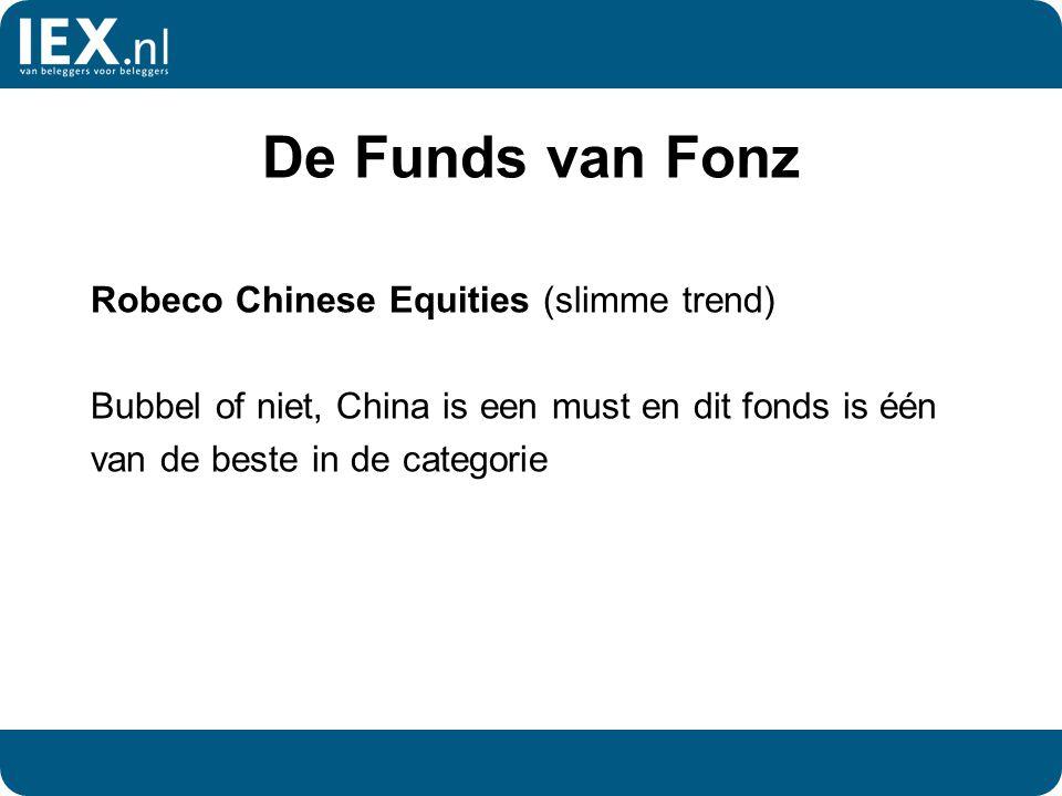 De Funds van Fonz Robeco Chinese Equities (slimme trend) Bubbel of niet, China is een must en dit fonds is één van de beste in de categorie