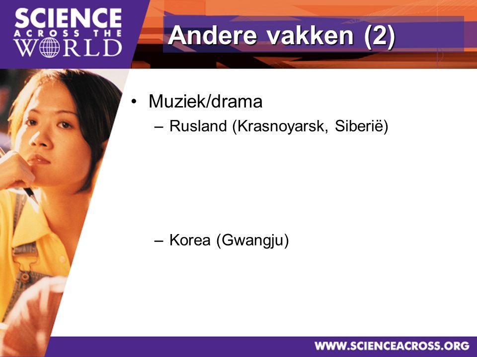 36 Muziek/drama –Rusland (Krasnoyarsk, Siberië) –Korea (Gwangju) Andere vakken (2)