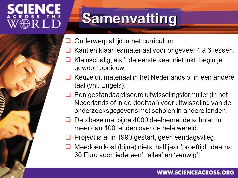 38  Onderwerp altijd in het curriculum.  Kant en klaar lesmateriaal voor ongeveer 4 à 6 lessen.