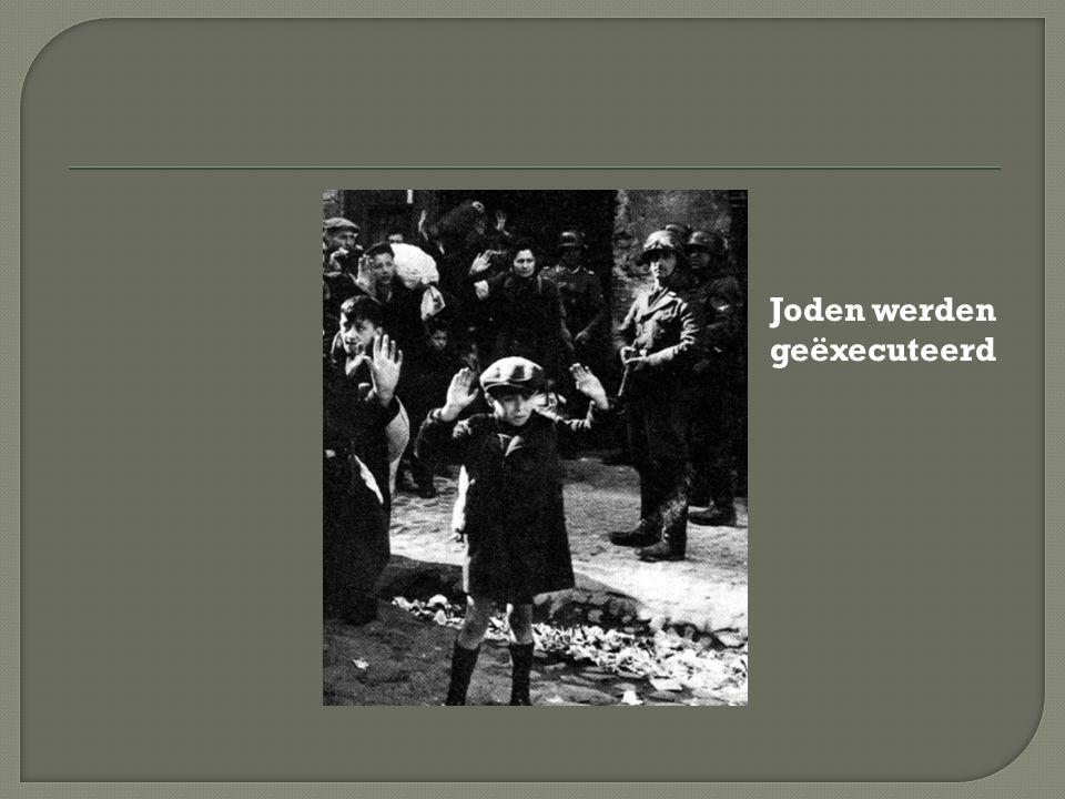 Joden werden geëxecuteerd
