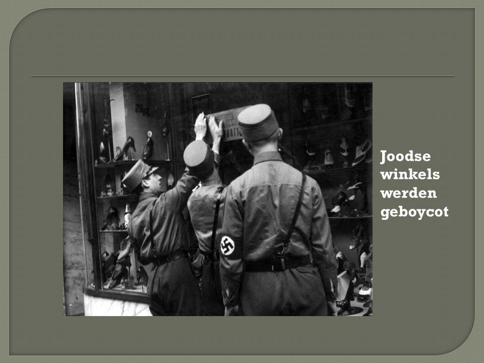 Joodse winkels werden geboycot