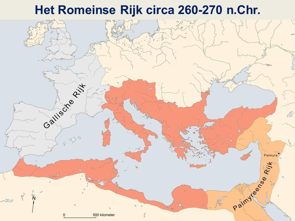 Het Romeinse Rijk circa 260-270 n.Chr.