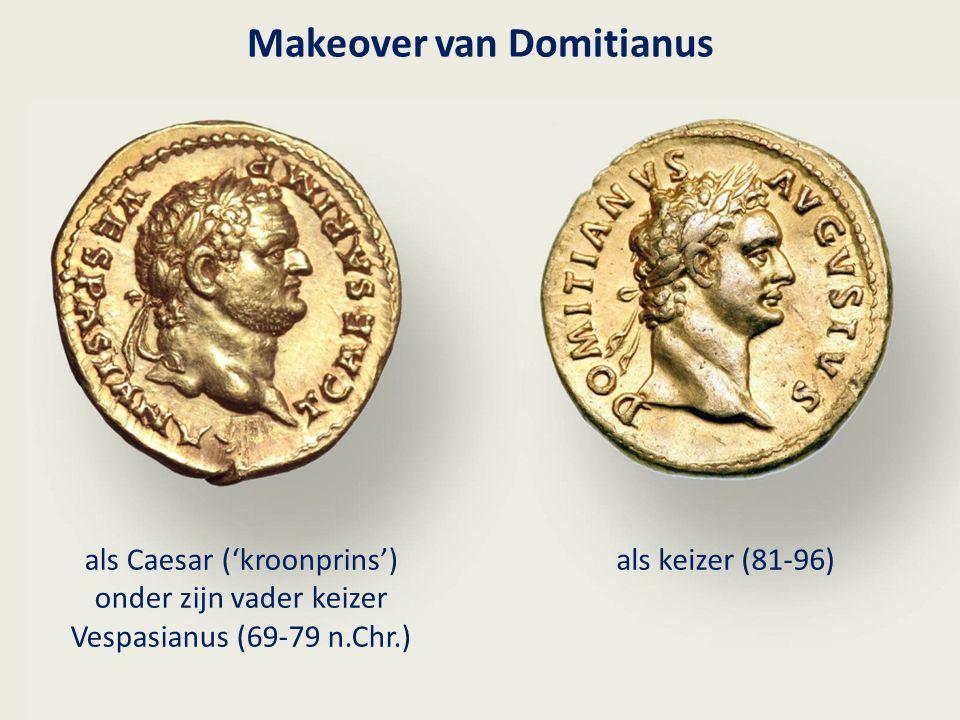 Makeover van Domitianus als Caesar ('kroonprins') onder zijn vader keizer Vespasianus (69-79 n.Chr.) als keizer (81-96)