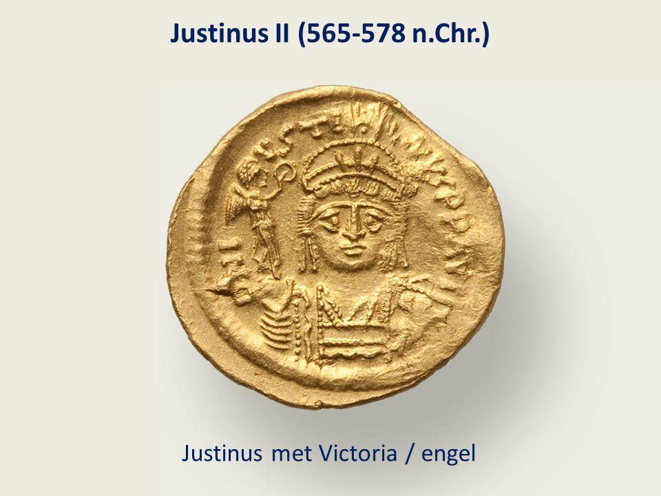 Justinus II (565-578 n.Chr.) Justinus met Victoria / engel