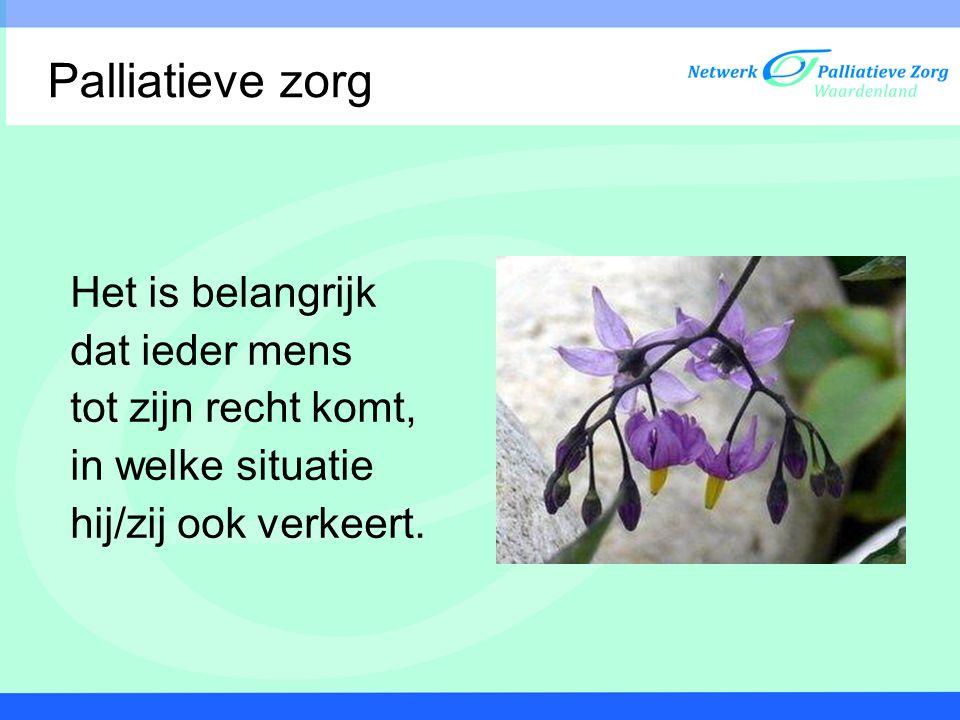 Het Netwerk Palliatieve Zorg Waardenland is een samenwerkingsverband met organisaties in de regio Dordrecht en Gorinchem.
